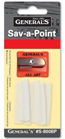 Little Red All-Art Sharpener & 6 Sav-A-Point Protectors