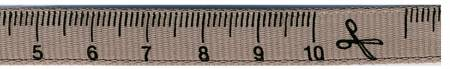 3/8in Measuring Tape Ribbon - Taupe