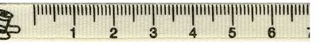3/8in Measuring Tape Ribbon Ivory