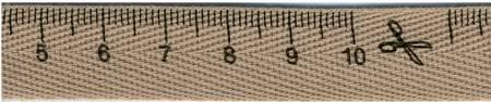 5/8in Measuring Tape Ribbon 27.5 yds Beige
