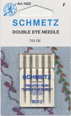 Schmetz Double Eye Topstitch Machine Needle Size 12/80