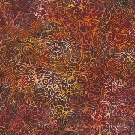 Bali Batik S2356-389 Scroll Paprika