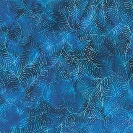 Bali Batik S2378-87 Feather Blueberry