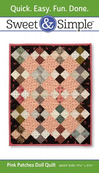 Pink Patches Doll Quilt Pattern Pack