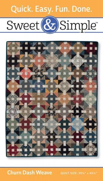 Sweet & Simple - Churn Dash Weave Pattern