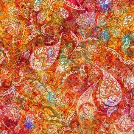 Floral Rhapsody - Summer Paisley Digital