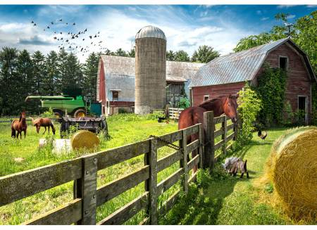 Grass Farm Digital Panel, 30-1/2in x 43-3/4in