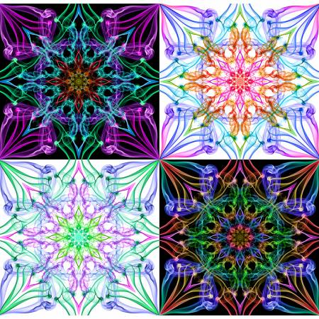 1.25 yd. Multi Dream Big Ethereality 43in Digital Panel, 4-21-22in Squares