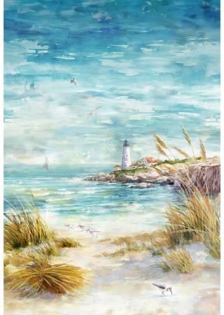 Hoffman Seaside Shoreline Panel, 30-1/4in x 44in, Digital S4798-484