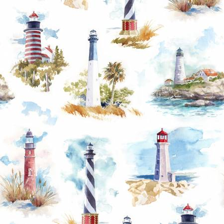 Shoreline stories fabric