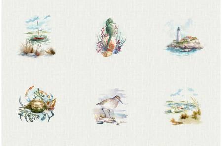 Shoreline Stories Natural Sea Collage Digital