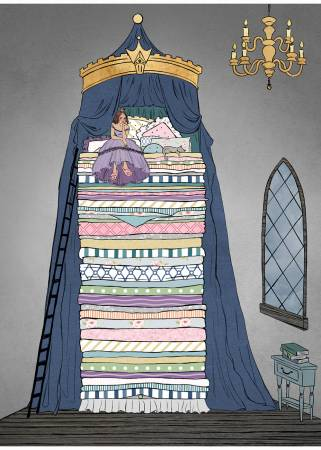 The Princess & The Pea Digital Panel, 43-1/4in x 60in