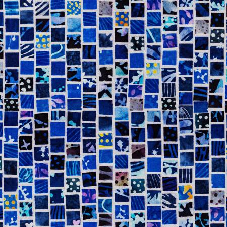 Mosaic Masterpiece Digital Navy