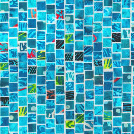 Mosaic Masterpiece Digital Aqua