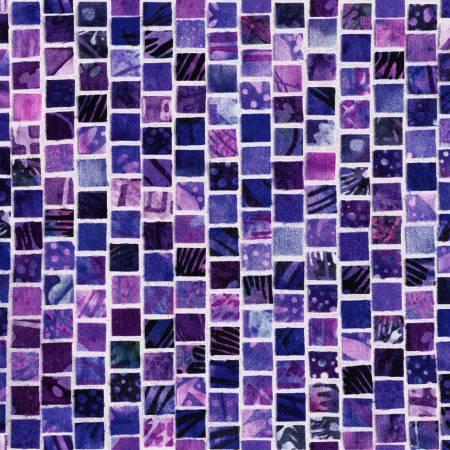 Amethyst Fat Quarter Mosaic Masterpiece Collection from Hoffman Fabrics
