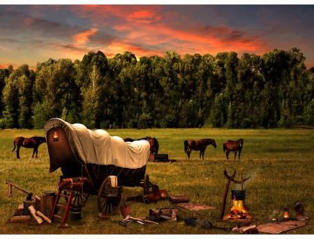 Sunset Sun Up to Sun Down - (cowboy camp)