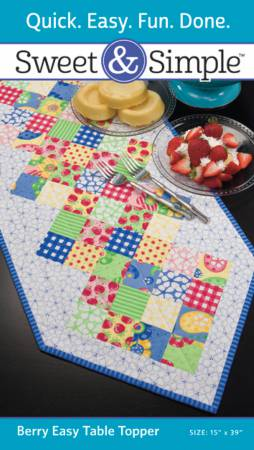 Sweet & Simple - Berry Easy Table Runner Pattern