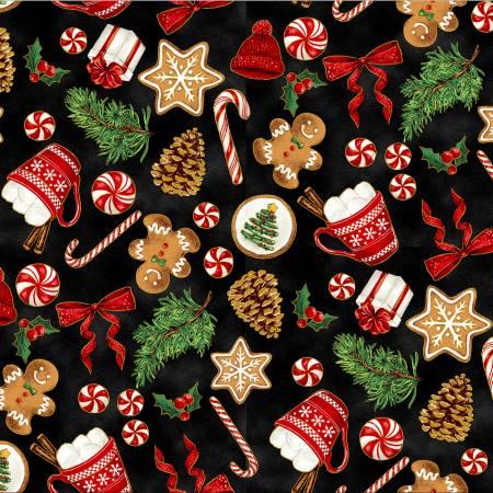 Black Holiday Treats w/Metallic