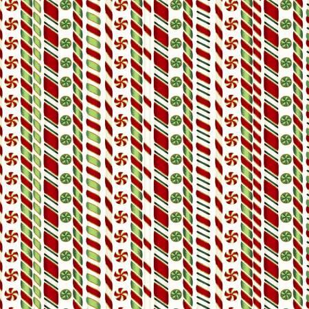 Natural Candy Cane Stripe w/Metalic