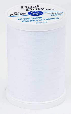 Dual Duty XP Polyester Thread 250yds White
