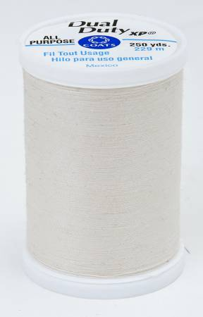 Dual Duty XP Polyester Thread 250yds Natural