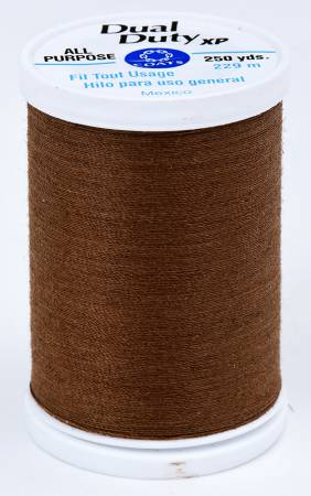 Coats All Purpose Dual Duty Thread -Brown Chestnut