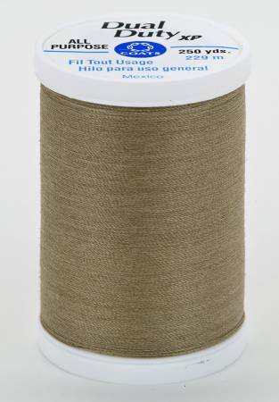 Dual Duty XP Polyester Thread 250yds Dark Khaki