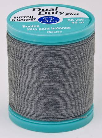 Dual Duty Plus Button and Carpet Thread 50yds Slate