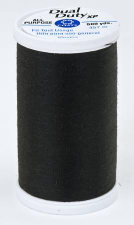 Dual Duty XP Polyester Thread 500yds Black