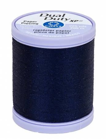 Dual Duty Paper Piecing Thread 225yd Navy