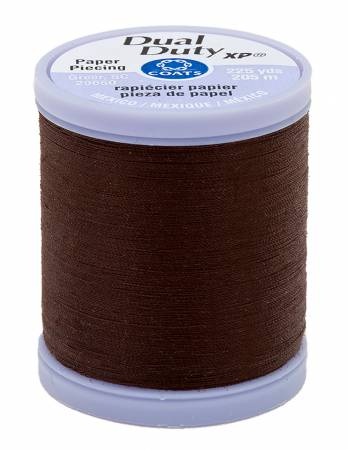 Dual Duty Paper Piecing Thread 225yd Chona Brown
