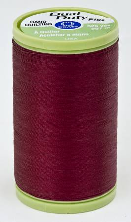 Dual Duty Plus Hand Quilting Thread 325 yds Barberry Red