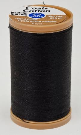 Coats Cotton Machine Quilting Thread 350 yds Black