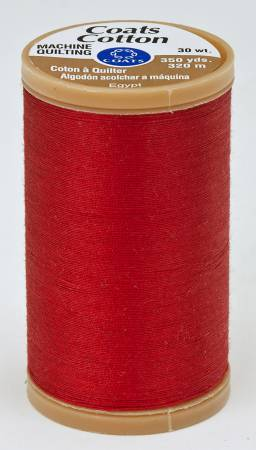 Coats Cotton Machine Quilting Thread 350 yds Red