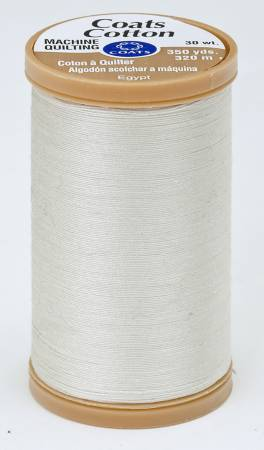 Coats Cotton Machine Quilting Thread 350 yds Natural