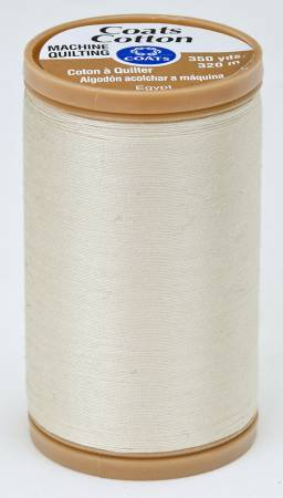 Coats Cotton Machine Quilting Thread 350 yds Cream