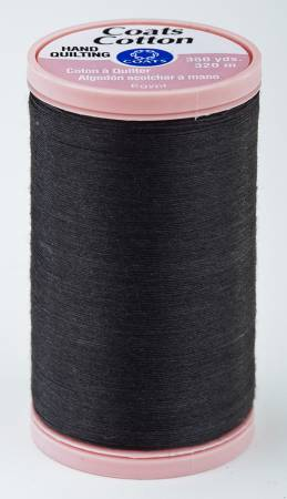 Coats Cotton Hand Quilting Thread 350 yds Black