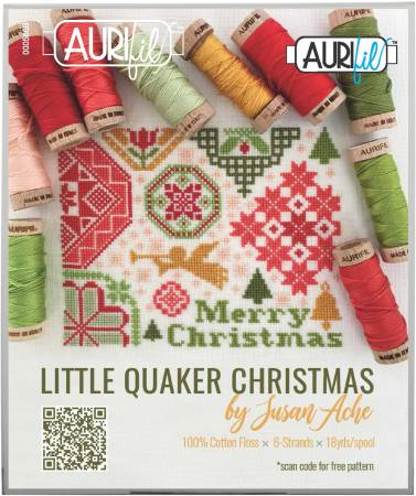 Little Quaker Christmas Thread Collection by Susan Ache 10 Small Floss Spools