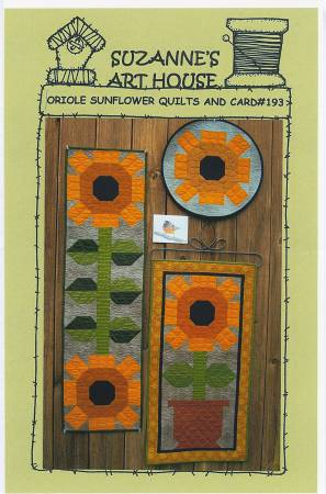 Oriole Sunflower Quilts and Card
