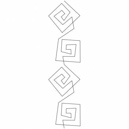 Quilting Stencil 3.5in Amusement #1