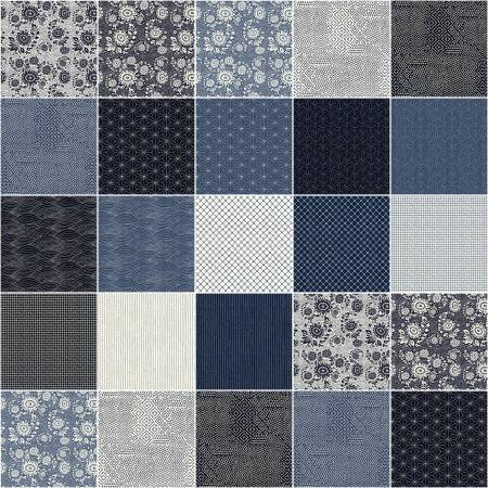 Fat Quarter Sashiko, 18pcs/bundle