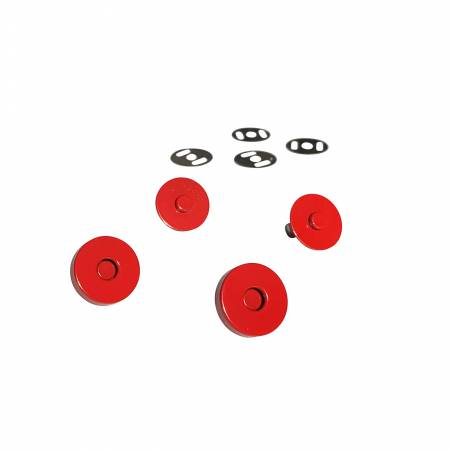 Red Magnetic Snaps Set of 2