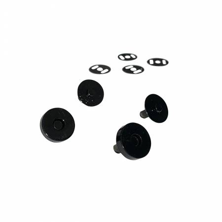Black Magnetic Snaps Set of 2