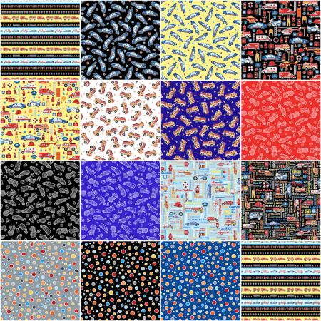 10in Squares Save the Day, 40pcs/bundle
