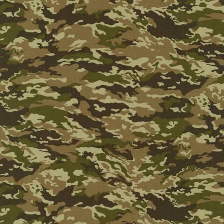 Robert Kaufman Sevenberry Earth Camouflage