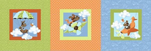 Multi Zig the Flying Ace Dog Squares
