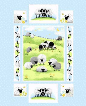 Light Blue Meet Lewe the Ewe Panel