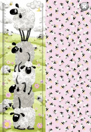 Lal the Lamb -- SB20050-520 Growth Chart 30 x 42 Pink