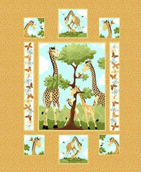 Orange Zoe the Giraffe Panel
