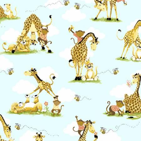 Zoe the Giraffe - Buddies Allover 20058 930 blue
